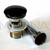 Донный клапан для раковин с переливом MELANA (черный) T201B купить