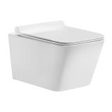 Купить: Унитаз подвесной SOLE Cube SoftClose Slim 362*288*523 мм